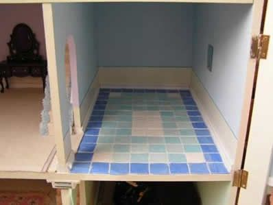Dollhouse Flooring tutorials! Maybe we'll try some of these? They don't look so hard! @Jenn L Styles