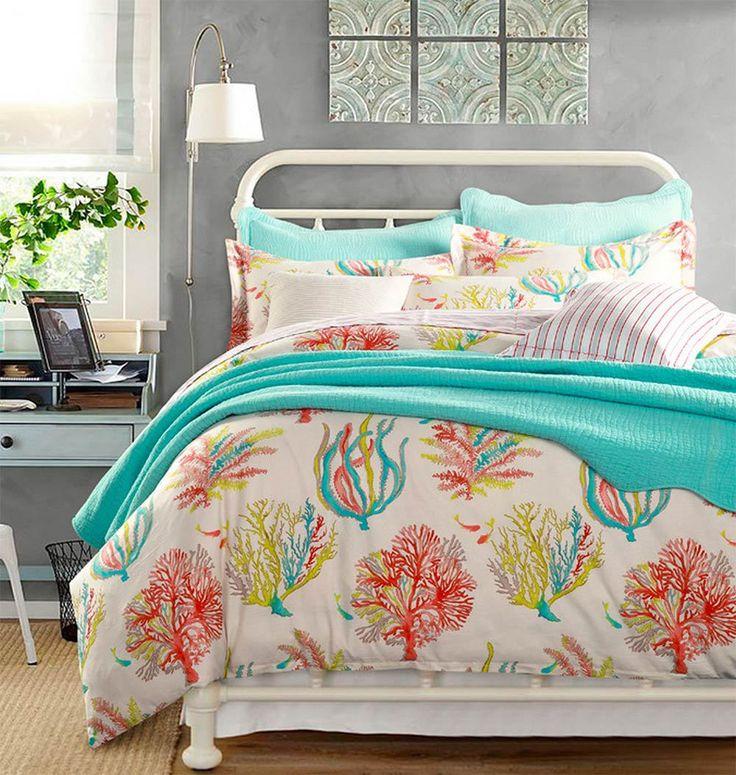 Rustic mediterranean bedding set adults,full queen cotton european retro marine home textiles flat sheet pillow case duvet cover