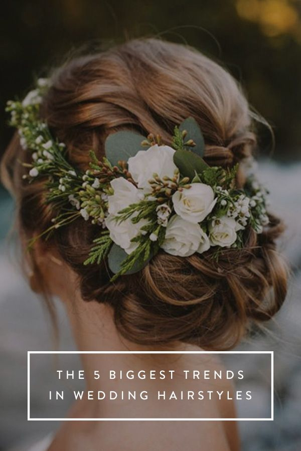 The 5 Biggest Trends in Wedding Hairstyles via @PureWow More