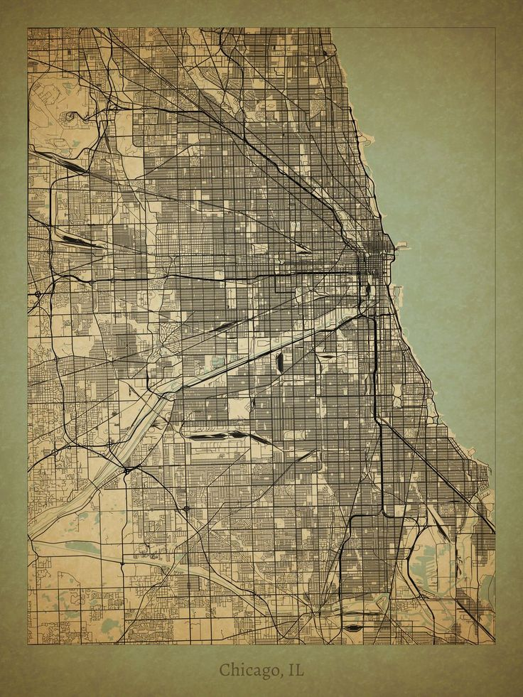 Chicago Map Location%0A Cool Chicago Poster