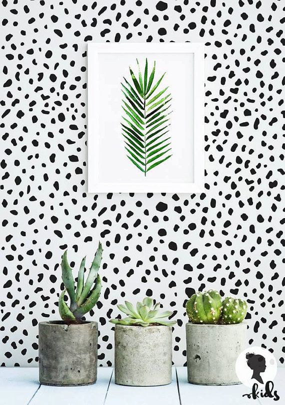 Make your walls pop with this Speckle pattern removable wallpaper! Perfect choice for those who love bright and trendy interiors. :)    SIZE  *