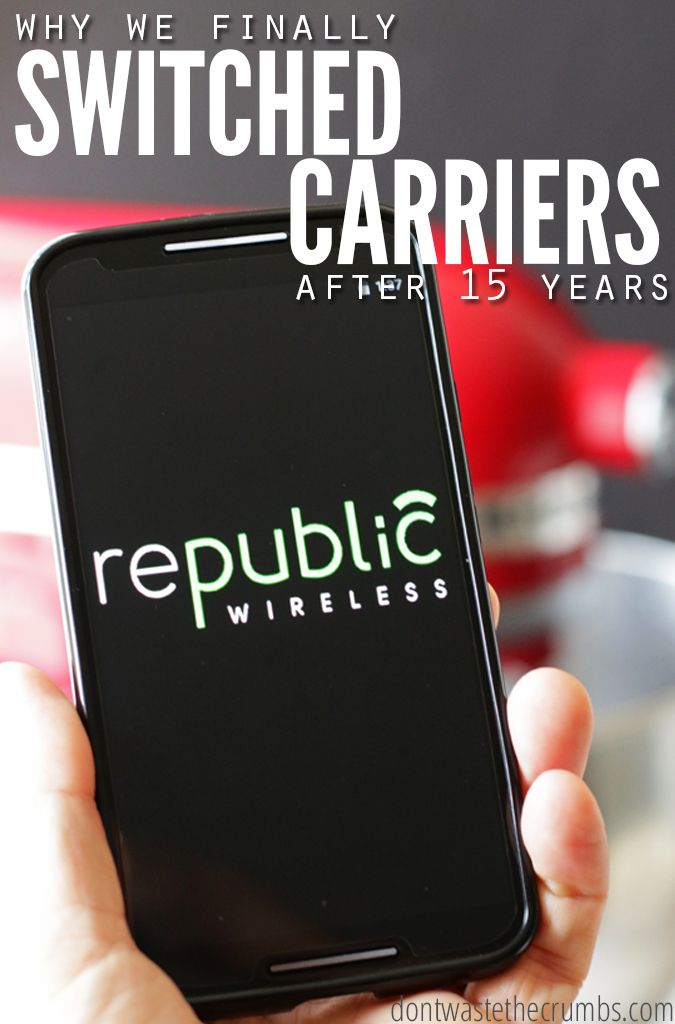 After being a customer of Verizon Wireless for 15 years, we finally left for Republic Wireless. Now, instead of spending $115/month we spend $35/month for talk, text and data! Stop wasting your money on expensieve cell phone plans and start save money on cell phone service! Read this post and make the switch. :: DontWastetheCrumbs.com