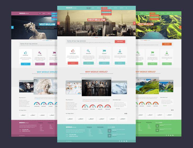ModusVersus free #psd template #flatdesign #freebies