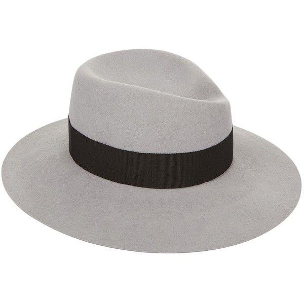 Maison Michel Virginie Fedora (£420) ❤ liked on Polyvore featuring accessories, hats, maison michel, fedora hat, waterproof hat, wide brim fedora and wide brim fedora hat
