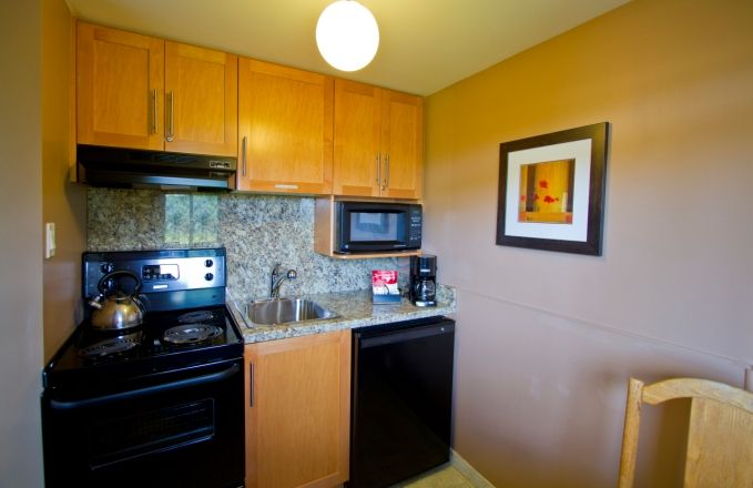 Ask about our kitchen studios, ideal for extended stays in Victoria BC.