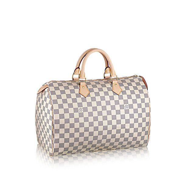 Speedy 35 +Damier Azur Canvas - Handbags | LOUIS VUITTON