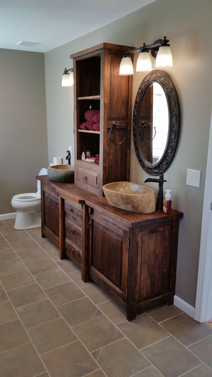 135 best rustic bathroom vanities more images on. Black Bedroom Furniture Sets. Home Design Ideas