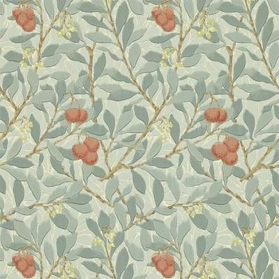 MORRIS & CO TAPET ARBUTUS , BLUE/PINK-210407