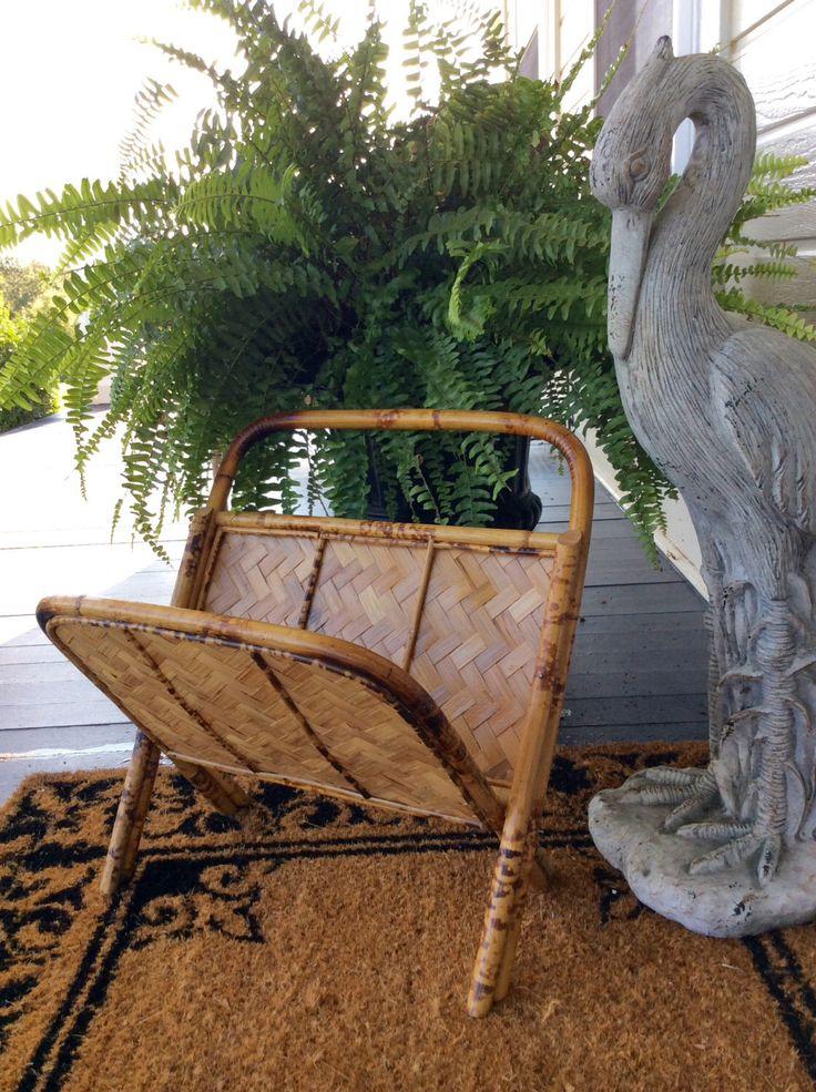 Vintage Bamboo, Magazine Rack, Folding, Tortoise Shell, Tropical, Coastal, Beach, Cottage, Tiki Decor by YellowHouseDecor on Etsy https://www.etsy.com/listing/476041209/vintage-bamboo-magazine-rack-folding