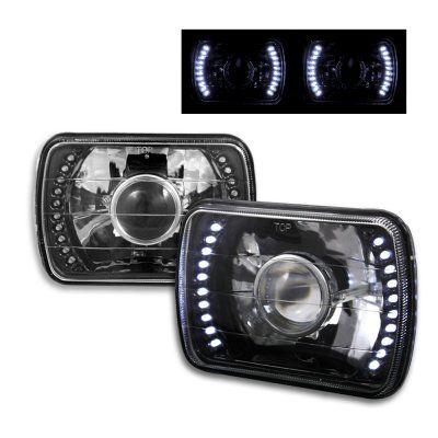 Jeep Cherokee 1979-2001 LED Black Sealed Beam Projector Headlight Conv