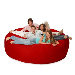 8 Foot Sack Chair...great idea for teen room or basement