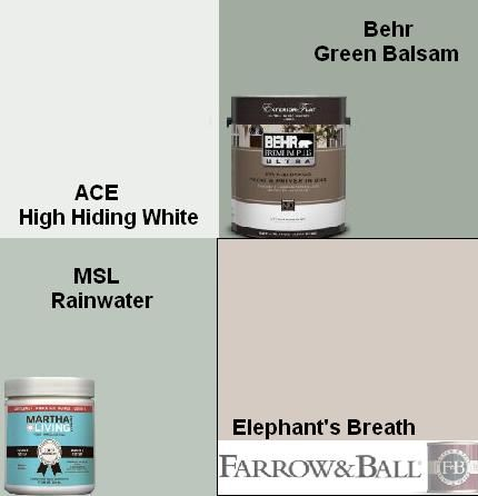Muted Paint Colors Martha Stewart Living Rainwater Ace High Hiding White Behr Green