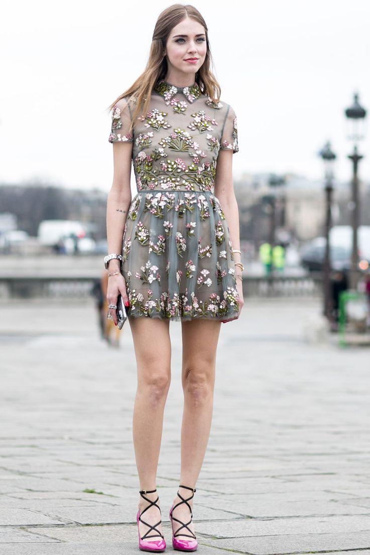 such a pretty dress. Chiara in Paris. #TheBlondeSalad