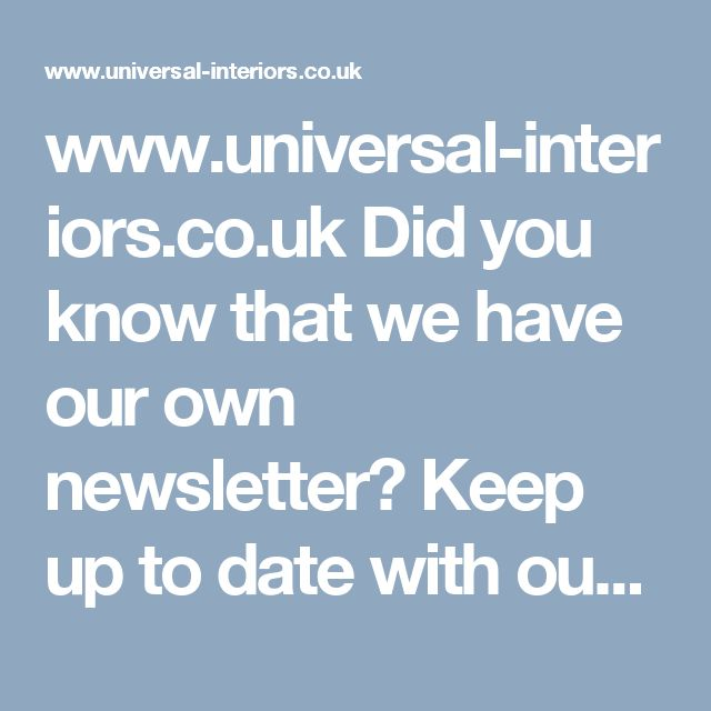 www.universal-interiors.co.uk    Did you know that we have our own newsletter?      Keep up to date with our current news and offers!  Our newsletter sign up form can be found at the bottom of our website homepage.  Book now for 20% off retail price.  Call us on: 0800 112 3760  Or visit one of three showrooms across Glasgow.  #Interiors #Bespoke #Fittedbedroom #Bedroom #Homeoffice #Glasgow #March #Furniture #InteriorDesign #Homedesign #Wardrobes #office #Slidingdoors