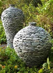 Garden pots - Like mini drystone walls so if you haven't got any you can have a hint of one with these pots.