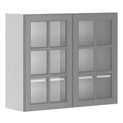36x30x12 5 In Buckingham Wall Cabinet In White Melamine And Glass Door In Gr