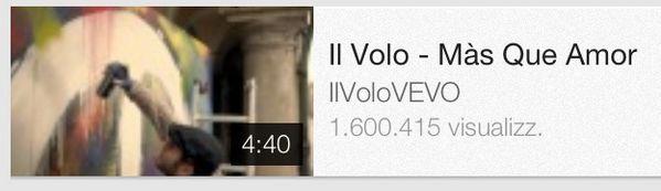 #ilvolo #masqueamor 1.600.415