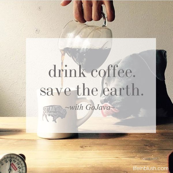 Drink coffee. Save the earth. | Today on lifeinblush.com, win $100 in #free #coffee + learn how @gojavadotca is #recycling your coffee pods to save the earth. #recycleyourpods