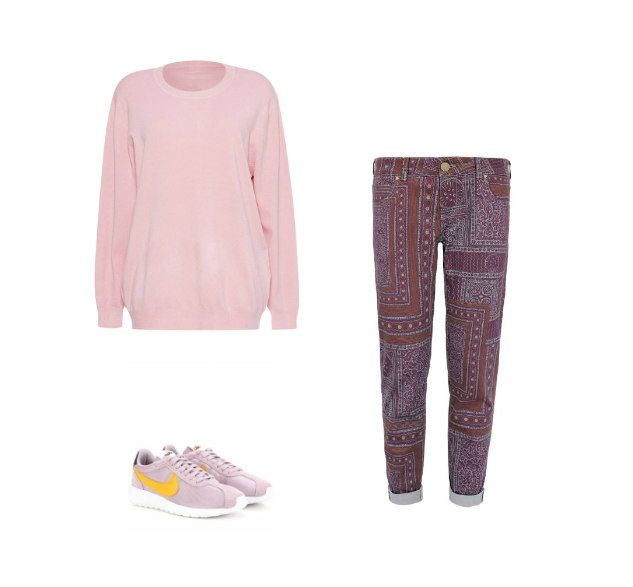 Casual Monday: I-QU sweater, My Pair of Jeans jeans, Nike sneakers