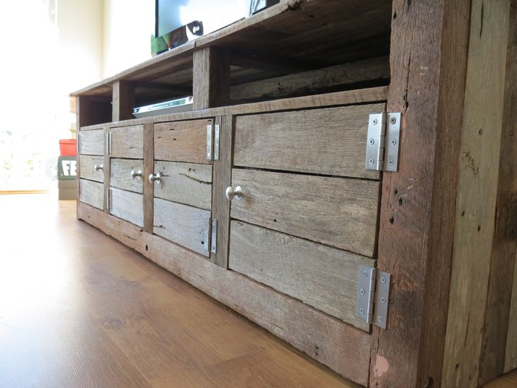 Low Line TV Unit Made From Recycled Timber