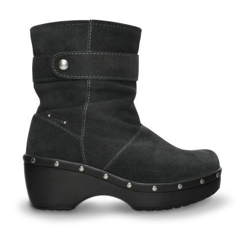 Crocs Cobbler Stud Ankle Boot W Knöchelhohe Stiefel machen Ihren Look perfekt. Dieses Paar bietet den ganzen Luxus von Leder und Wildleder, kombiniert mit dem legendären Crocs-Komfort. Der Stiefel ist unvergleichlich leicht und steckt voller interessanter Details wie Kontrastnähte und Ziernagelbesatz.