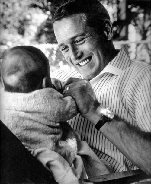 1965: Paul Newman and daughter