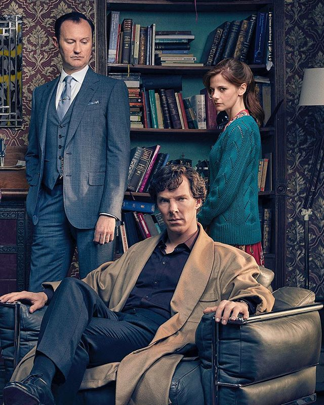 """Something tells me Mycroft is having a sarcastic inner monologue. - """"and that robe, simply dreadful, can't even take it upon himself to wear a clean sheet to Buckingham Palace"""""""