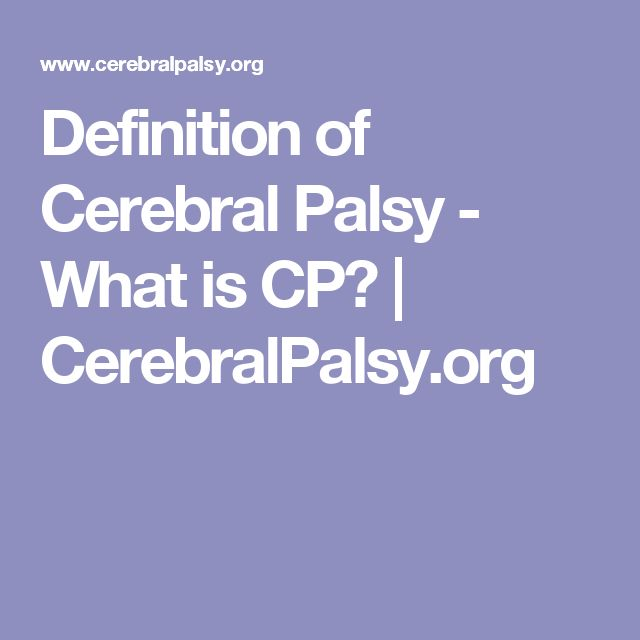 Definition of Cerebral Palsy - What is CP? | CerebralPalsy.org