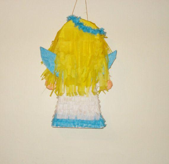 pinata de angel.  niña  cabello amarillo largo
