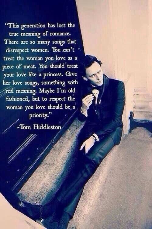 Love Tom Hiddleston.  (Loki)