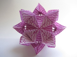 Website with directions for making origami flowers.