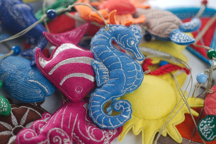 набор елочных игрушек на морскую тематику