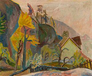 Høstmorgen i Trollbogen Holmsbu 1944 / Jule Auksjon 2010 / Kunsthandel - Blomqvist Kunsthandel