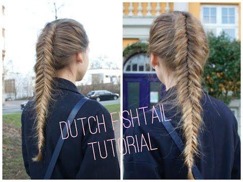 How to do The Dutch/Inverted fishtail - HairAndNailsInspiration - YouTube