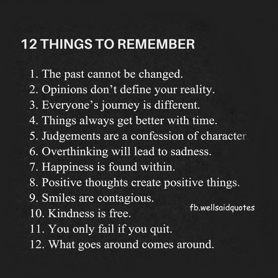 12 THINGS TO REMEMBER                                                                                                                                                                                 More