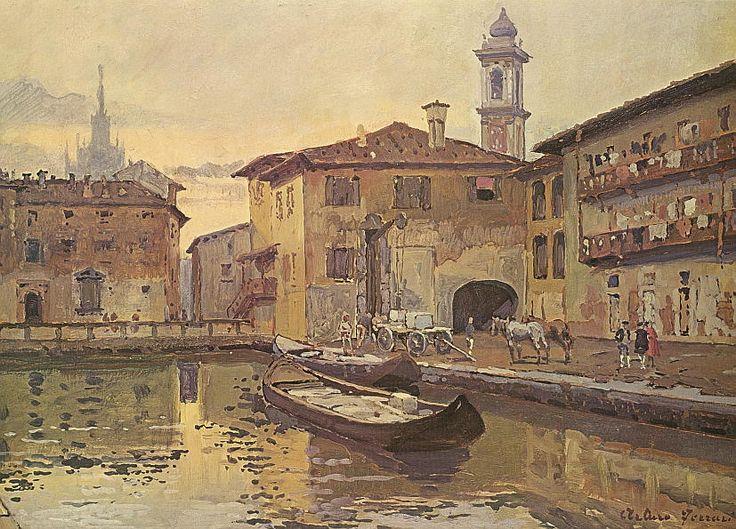 "Arturo Ferrari ""Milan – The small lake of the hospital"