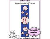 Baseball - Beaded Peyote Bracelet Cuff Pattern