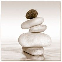 Black & White Zen, Sepia (Square) art on canvas from http://www.thecanvasartfactory ships worldwide!  #art #stones #spirituality #calm #peace #focus #photography #home #decor #wallart