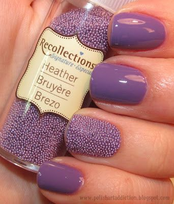 DIY Caviar Nails!  These beads are available at Michaels for $3.50 instead of the Caviet version for $25 at Sephora!: Caviar Nails, Nail Polish, Nailart, Caviet Version, Diy Caviar, Purple Nails, Nail Ideas, Nail Art