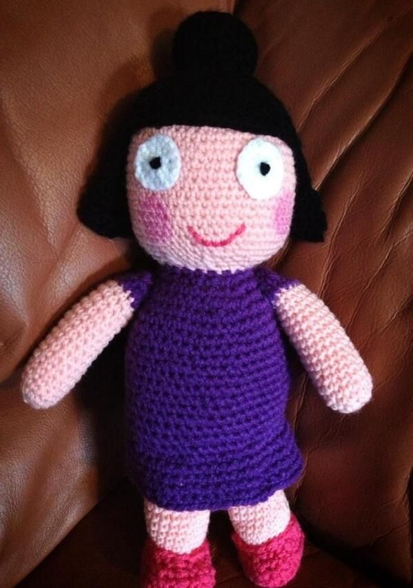 Dolly plum - Ben and Holly's little kingdom - CROCHET