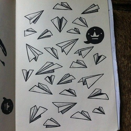 Image result for how to draw paper airplane
