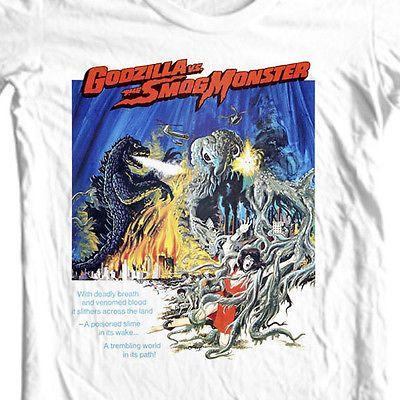 Godzilla-vs-the-Smog-Monster-t-shirt-vintage-old-sci-fi-film-free-shipping