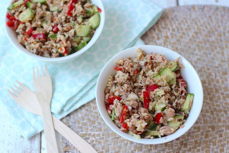 Zin in een lekkere rijstsalade met tonijn? Probeer dan eens dit recept, echt een aanrader!