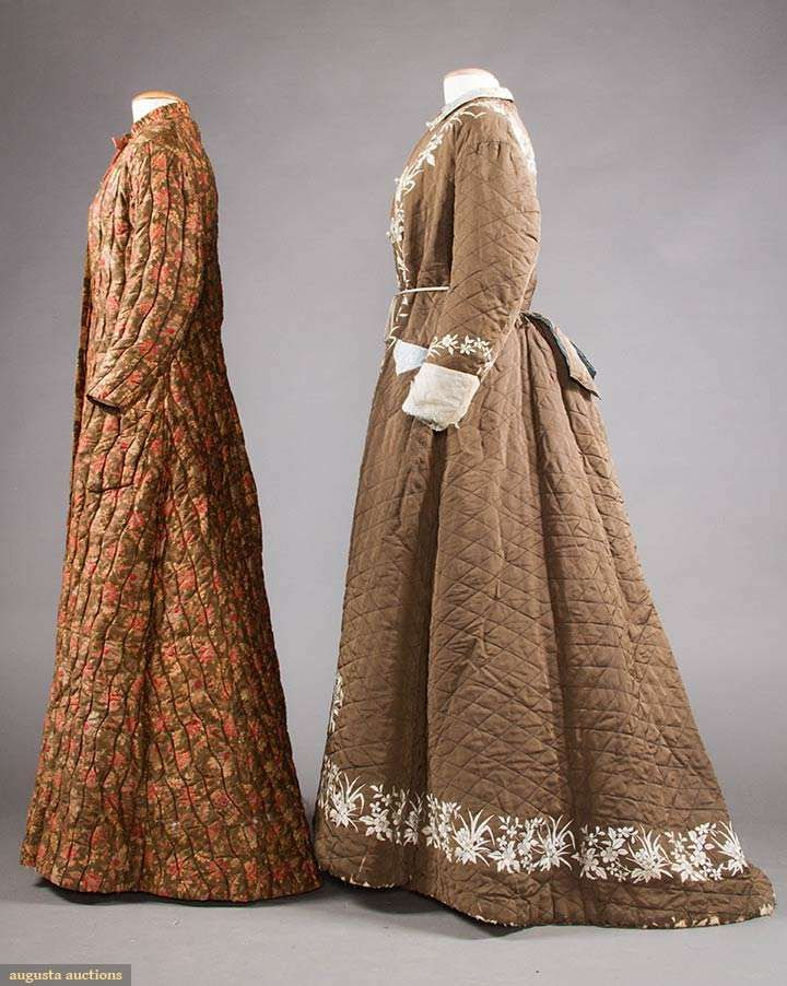 2 QUILTED LADIES\' ROBES, 19TH C | 1900\'s Under Garments & Nightgowns ...