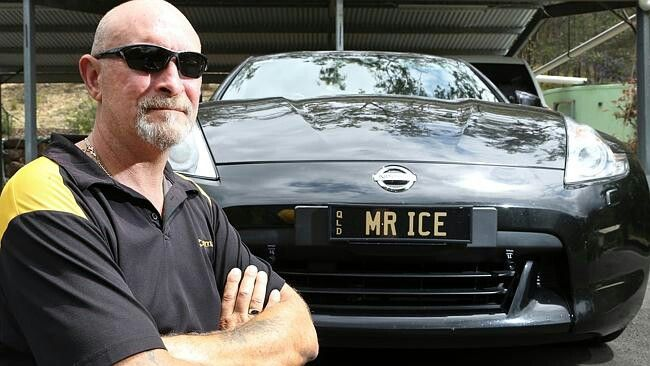 Debt collector Mark Mead has become well known around the Gold Coast for his Mr ICE and ICEM4N personalised number plates.