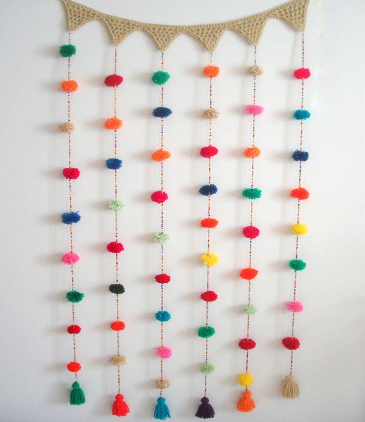 cortina pompones