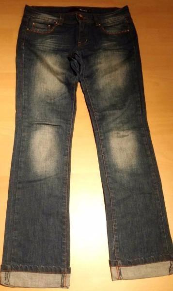 Damen Jeans Hose Wunderschön Leicht Gr. 36 in Blau Jeans von Tally Weijl TOPLeicht dehnbar. Hochwertig gearbeitet. Normaler gebrauchter Zustand.Siehe Bilder.Blau Denim.Bund Weite ca: 40 cmLänge ca: 96 cm172A