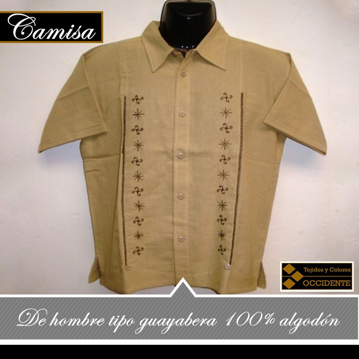 Camisa de Hombre tipo Guayabera 100% algodón, con bordado artesanal, manga larga o corta. Talla: S, M, L, XL Color: varios