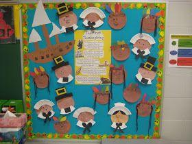 Kinder Garden: Thanksgiving Bulliten board