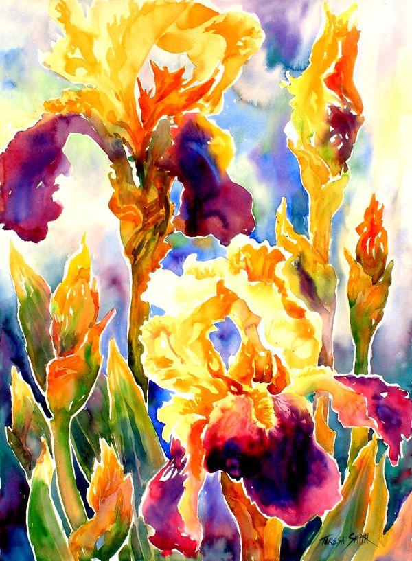 Vibrant Flower Painting Paint Pastel